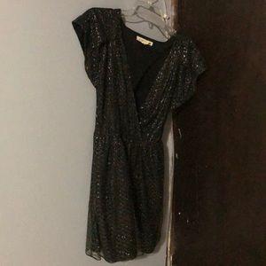 BCBGeneration low cut/cut out back black dress